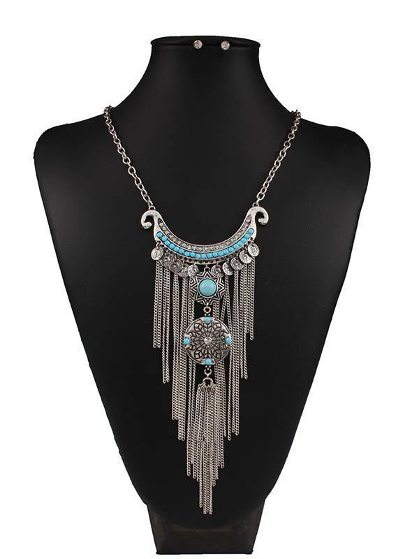 Bohemian  Pendant Tassels Exaggerate-style Necklaces Accessories