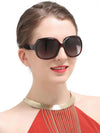 Fashion Ultra-violet Ray Intercepting Big Structure Sunglasses