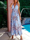 Printed Halter-neck Backless Bohemia Maxi Dress