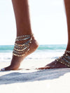 Punk Multilayer Tassels Footchain Accessories