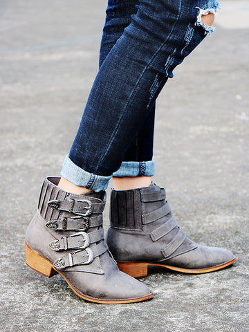 Warm Zipper Mid Calf Boots