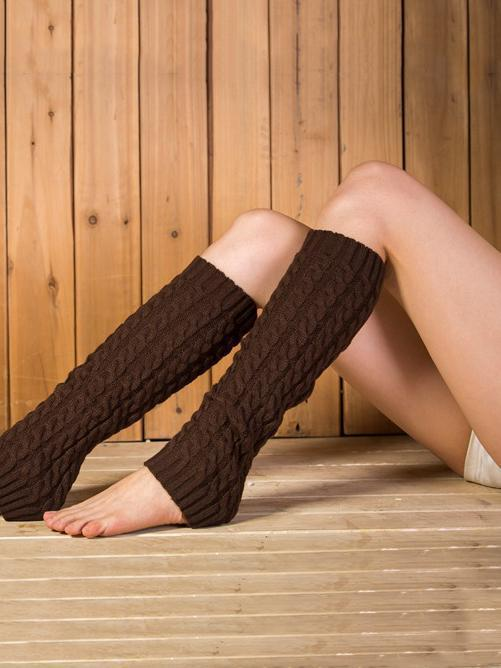 Popular Knitting Knee-high Leg Warmer Thermal Stocking