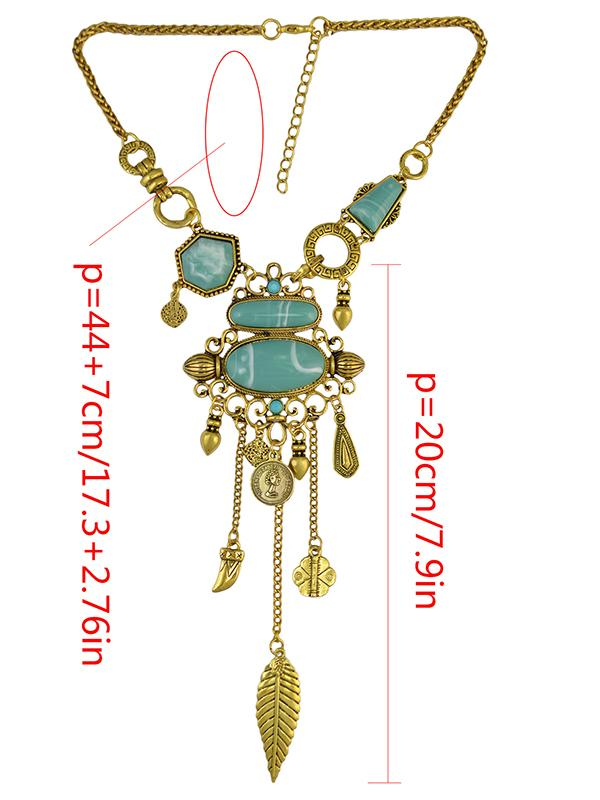 Fashion Geomertry Pattern Carving  Necklaces Accessories