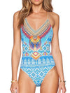 Striped Printed Tasseled Bikini Swimwear