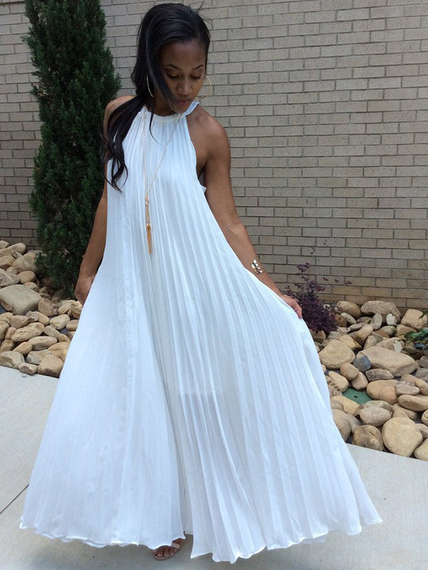 Pleated Maxi Dresses