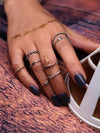 8PCS Vintage Slim Rings Accessories