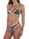 Solid Color Halterneck Two-Pieces Bikini Swimwear