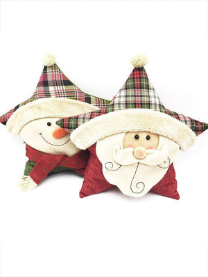 Christmas Five-point Star Throw Pillow Decoration Accessories