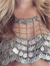 Bohemian Vintage Style Coin Shape Tassel Underwear Necklace Accessories
