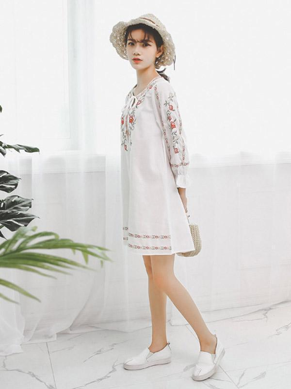 Floral Loose Bohemia Mini Dress