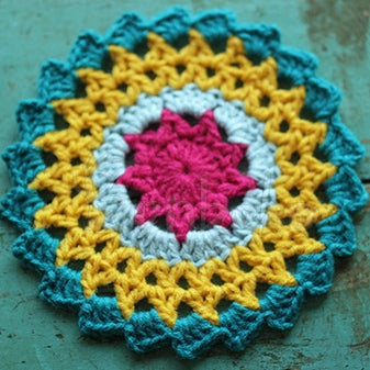 Sunflower Hand Crochet Insulation Mat