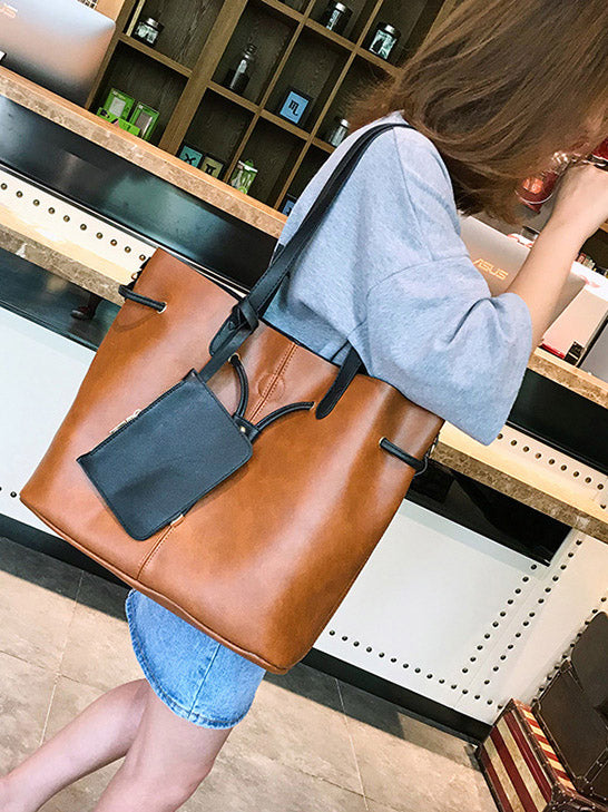 Fashion Simple Solid Color Single-shoulder Bag