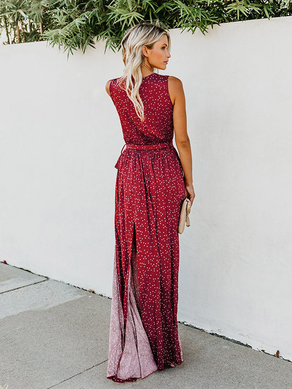 Bohemia Belted Sleeveless Maxi Dress