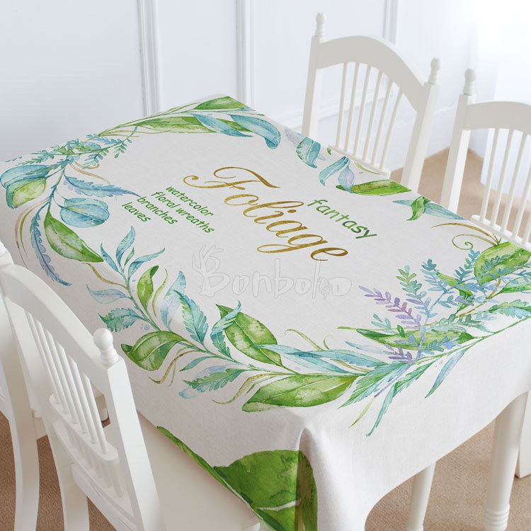 Fantasy Flower and Branches Casual Printed Tablecloths