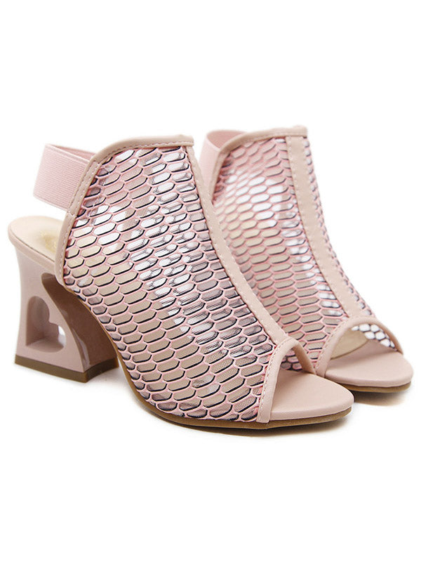 Fashion Solid Color High Heel Sandals