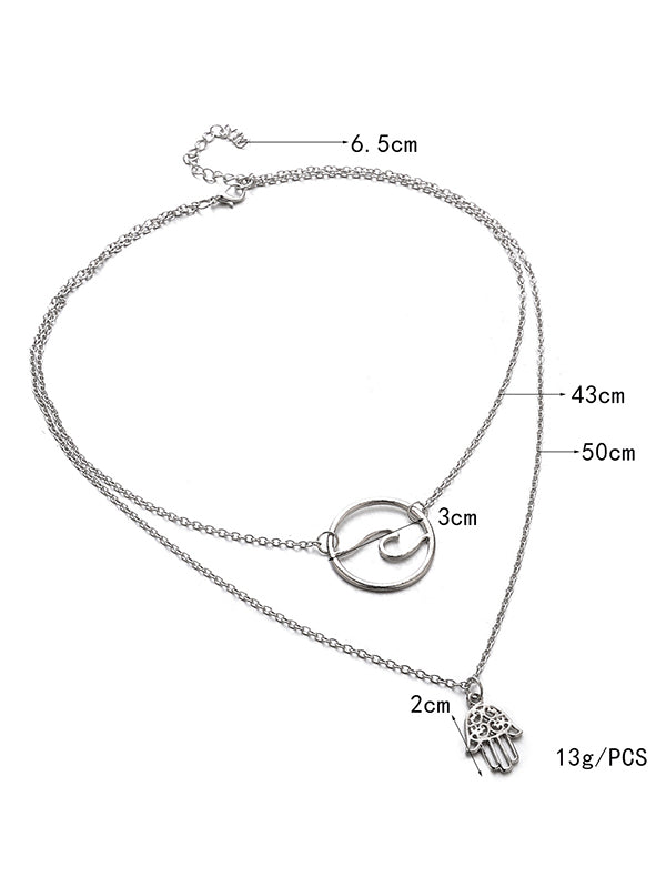 Alloy Silver Fashion Necklaces Accessories