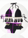 Sexy Halterneck Knitting Tassels Two-Pieces Bikini Swimwear
