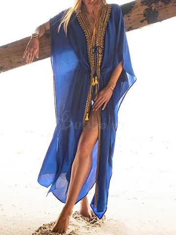 Gradient Color Off Shoulder Long Sleeves Maxi Dress