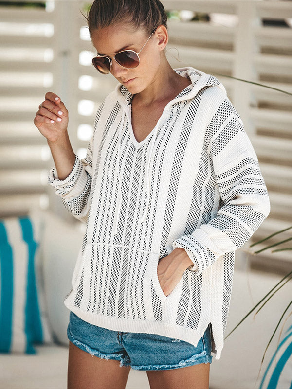 Knitting V-neck Loose Outwear