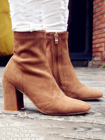 Fashion High Heel Boots Shoes