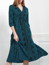Popular Inwrought Bohemia Half Sleeve V Neck Beach Maxi Dress