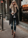 Lapel Long Sleeves Solid Color Coat