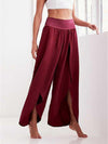 Solid Color Embroidered Decoration Bell-Bottoms Pants