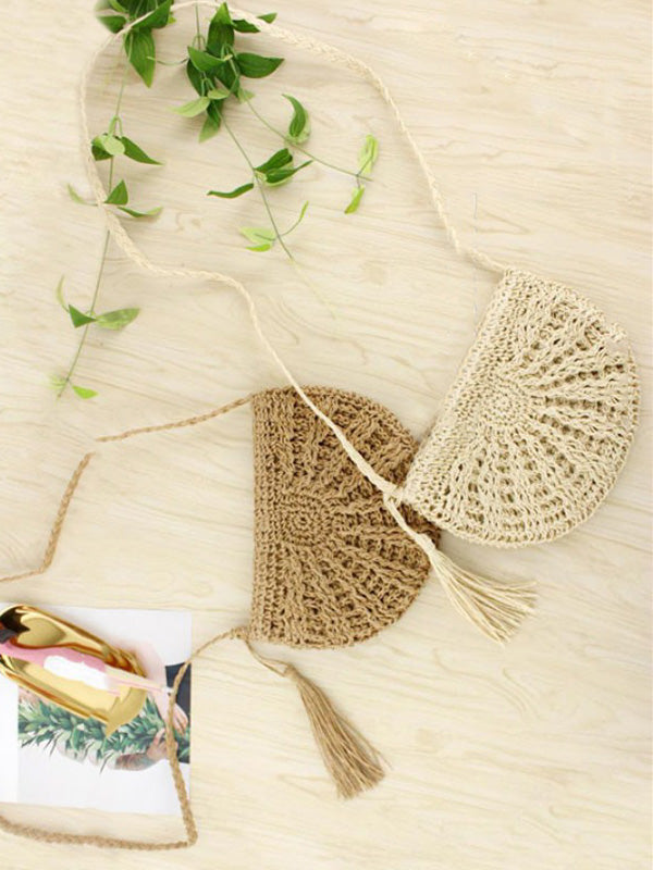 Small Semicircle Knitting Beach Bag