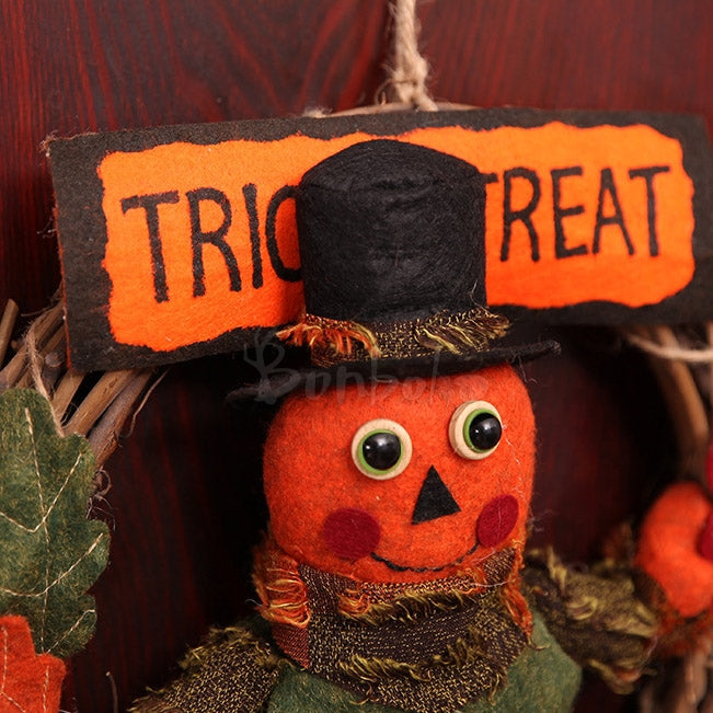 Halloween Bar Rattan Wreath House Decorations