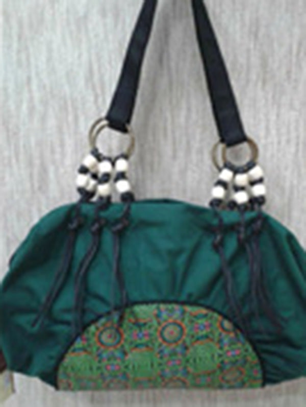 Canvas Tasseled Zipper Tote Bag