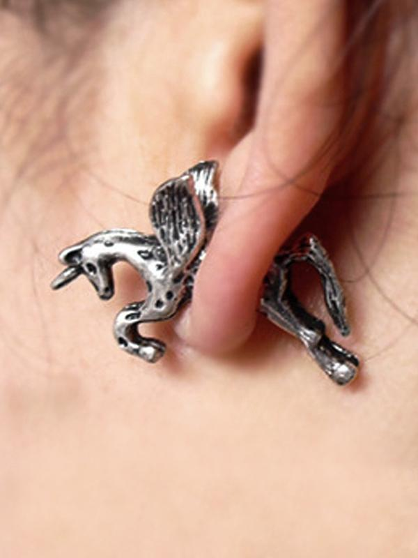 Punk Horse Pattern Earrings