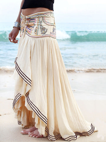 Long Sleeves Lace Loose Maxi Dress