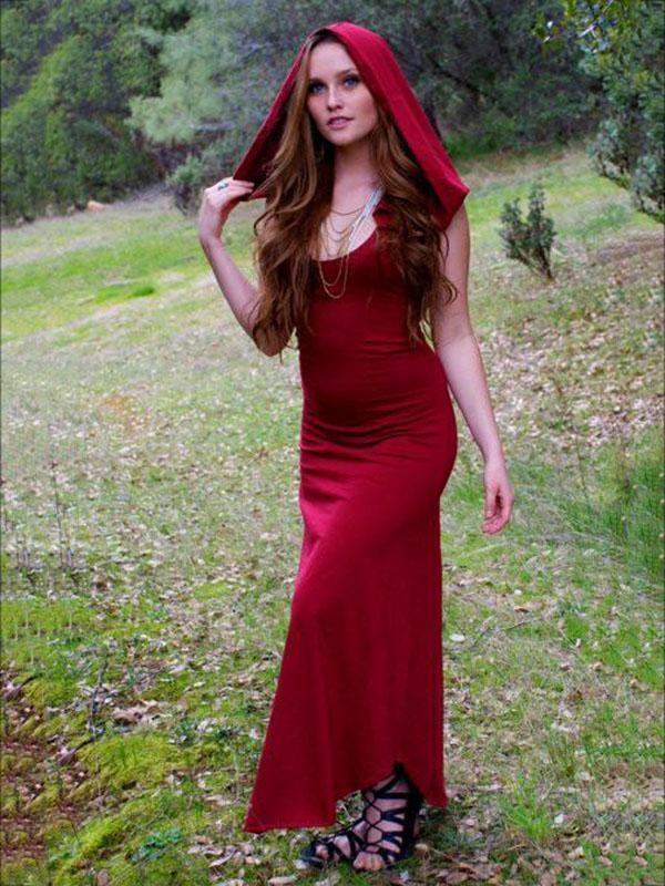 Vintage Raised Bands Forest Maxi Dress