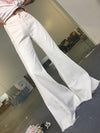 Retro White Jean Bell-bottom Pants