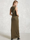 Hooded Sleeveless V-neck Maxi Dress