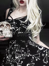 Lolita Gothic Vintage Print Sleeveless Empire Dress
