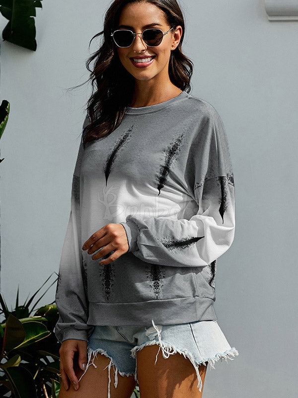 Gradient Color Round neck Sweatershirt