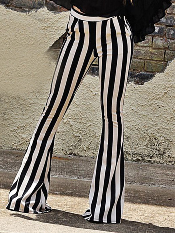 Striped Bell-bottom Casual Pants