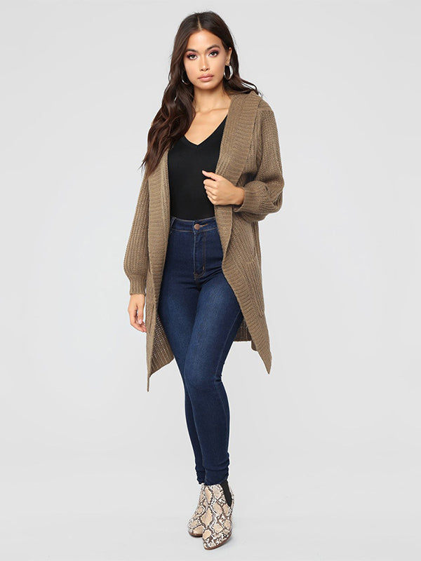 Long Sleeves 3 Colors Knitting Cardigan Tops