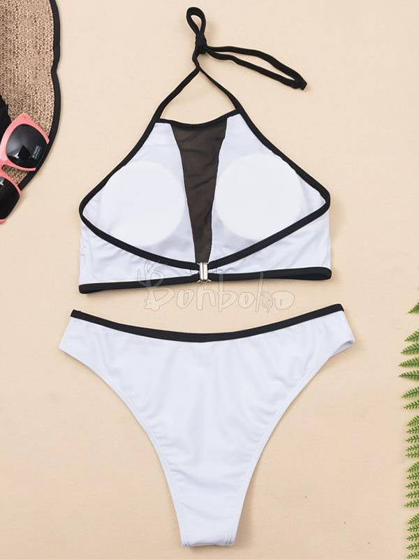 Split-Joint Bandage Split Bikini Swimsuit