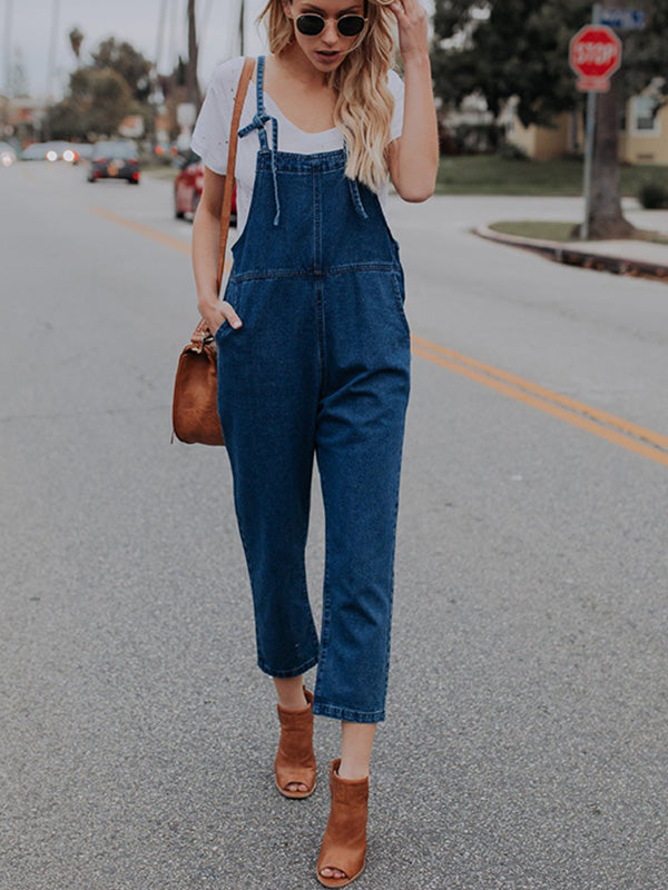 Fashion Long Jean Overalls Jumpsuits