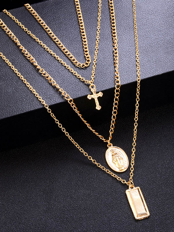 Gold Fashion Cross Necklaces Accessories