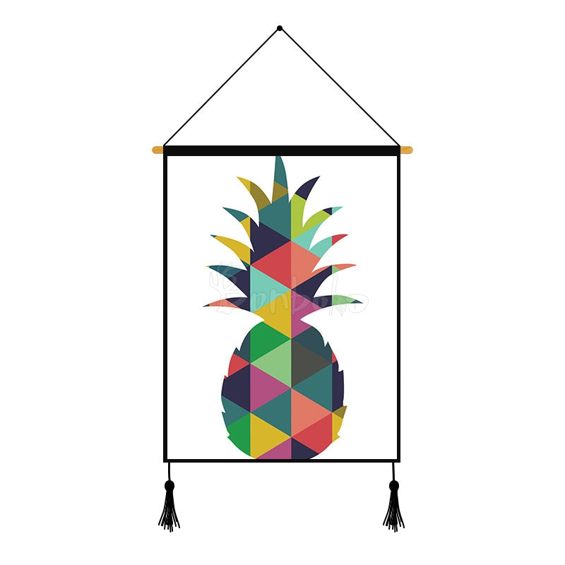 Pineapple Geometric Pattern Printed Wall Hanging Decoration