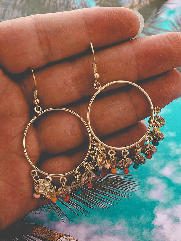 Geometry Tasseled Beads Earrings
