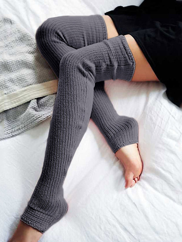 Loose Solid Knitted Stocking Accessories