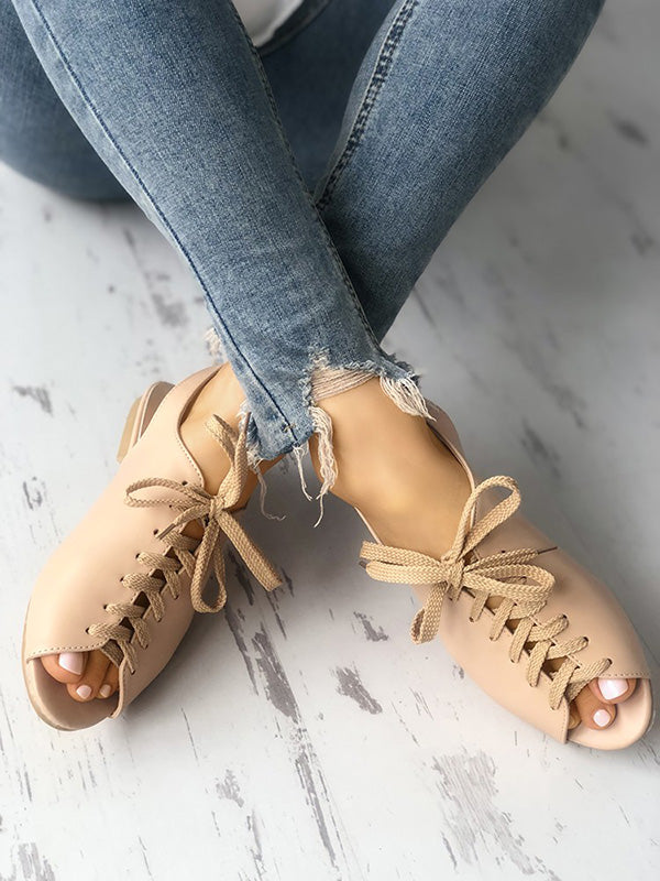Casual Peep-toe Bandage Sandals