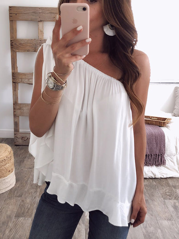 Beautiful 5 Colors Off-the-shoulder T-Shirts Tops