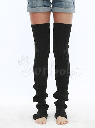 Knitting long Leg Warmer Stocking