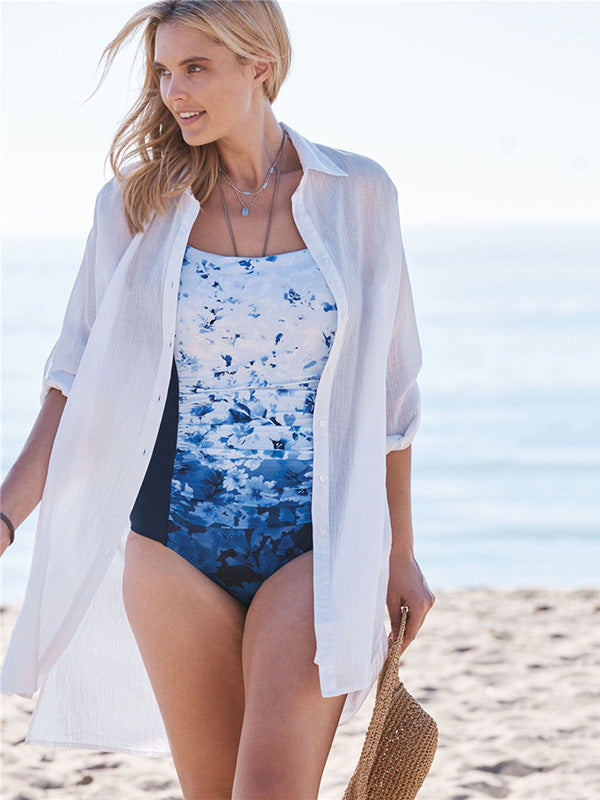 Vacation Beach Bikini Sun Cover-Ups