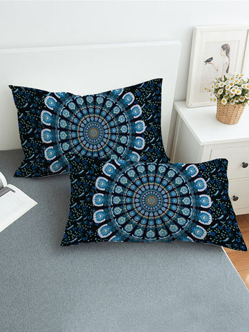 Fresh Lotus Pattern Twain Pillow Case